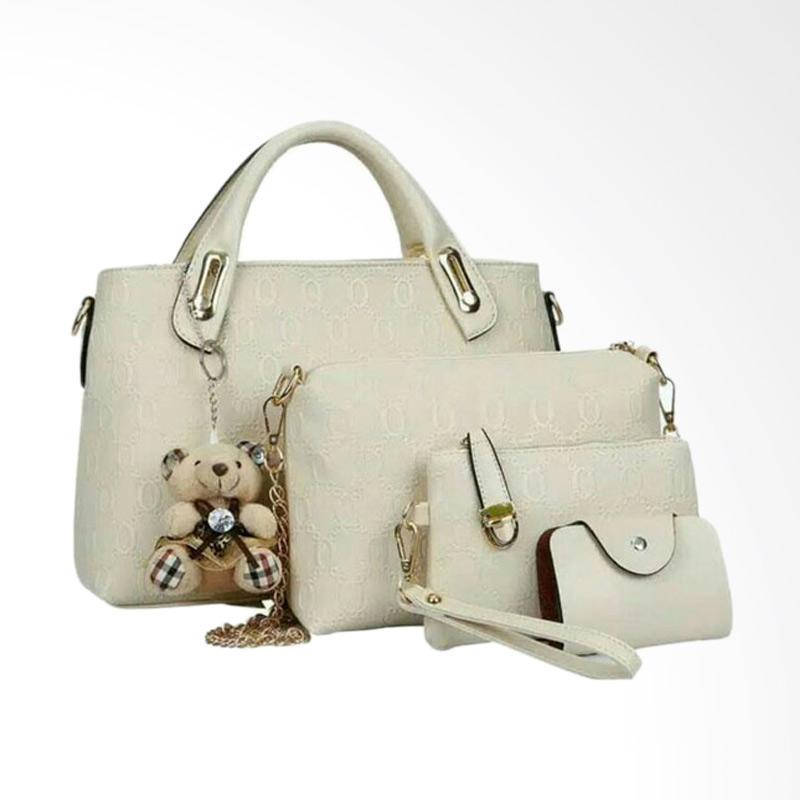 IMF handbag Best Quality 4in1 Tas Wanita - Beige