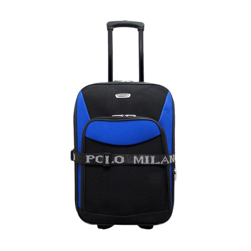 Polo Milano 217 Expandable Carry Cart Koper - Blue [20 Inch]