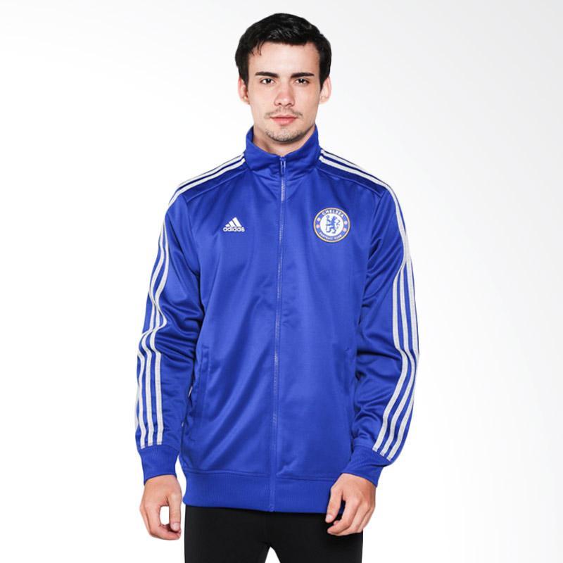 adidas Men Football Cfc 3S Trk Top Jaket Olahraga Pria - Biru [AA1717]