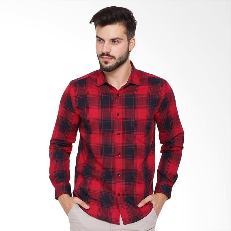 Arnett Shirt Long Bt Atasan Pria - Red [8337]
