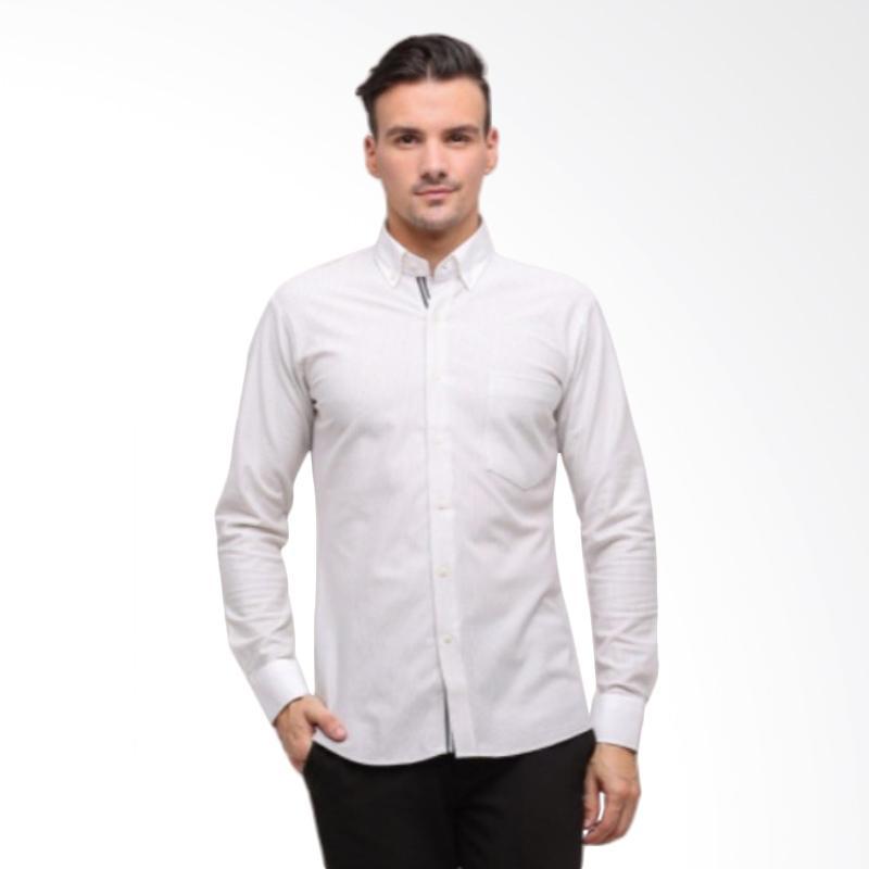 GT Man Long Sleeves Shirt Kemeja Pria - Grey [KGT010BG]