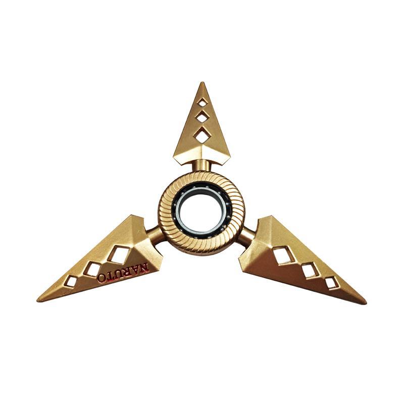 Aimons Naruto Spiner Jari Shuriken Naruto 3 Edge Kunai Fidget Spinner
