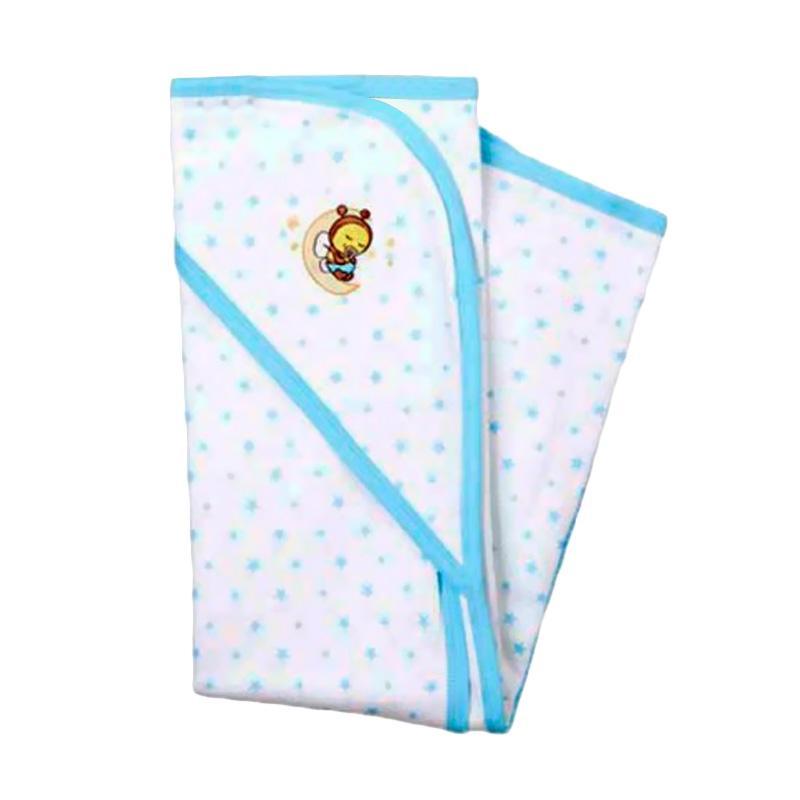 Babybee Luxurious Hooded Blanket - Aqua Blue Star