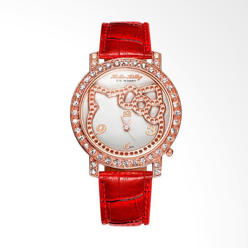harga Hello Kitty WAT04154R Cartoon Fashion Luxury Diamond Lady Jam Tangan Wanita - Red Blibli.com