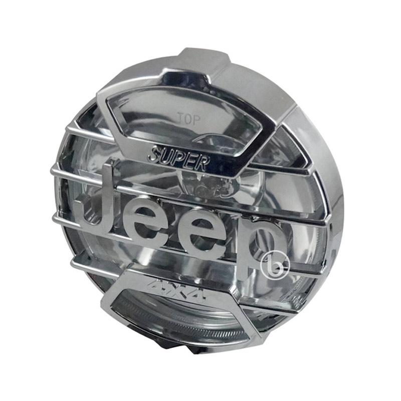 harga Jeep Lampu Depan Teralis for Motor Custom Japstyle Cafe racer - Chrome Blibli.com