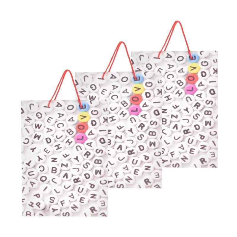 Karisma 742386 Kemeja Abjad Shopping Bag [3 pcs]