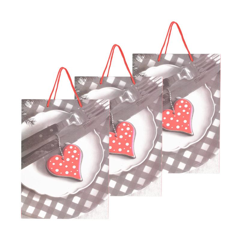 Karisma 742393 Kemeja Love Piring Shopping Bag [3 pcs]