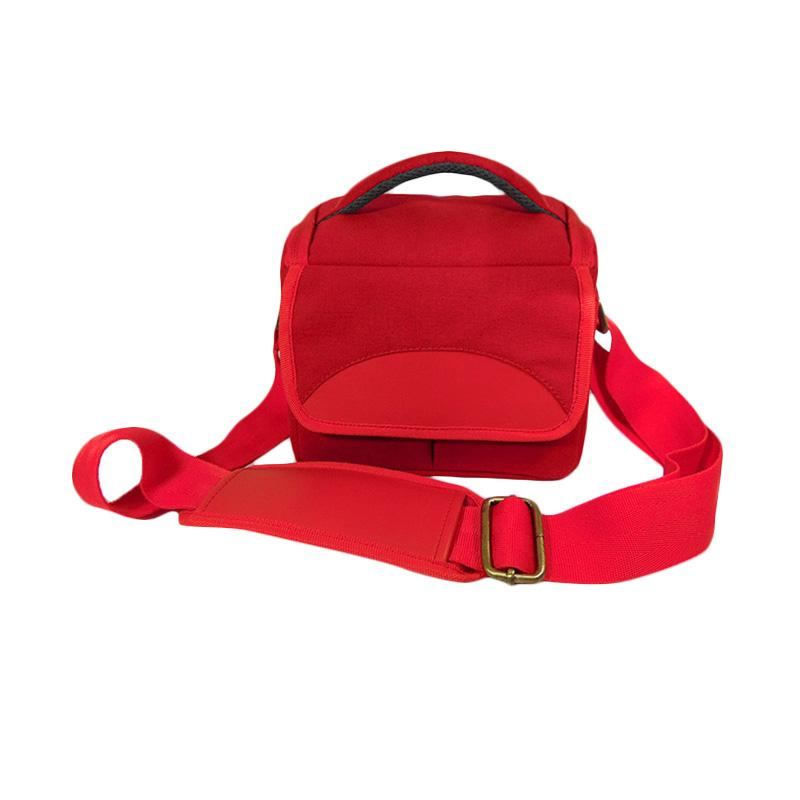 SDV MR-503c Mirorrless Canvas Tas Kamera - Merah