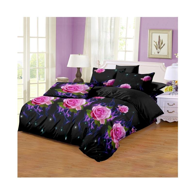 Monalisa Motif Flame Disperse Set Sprei