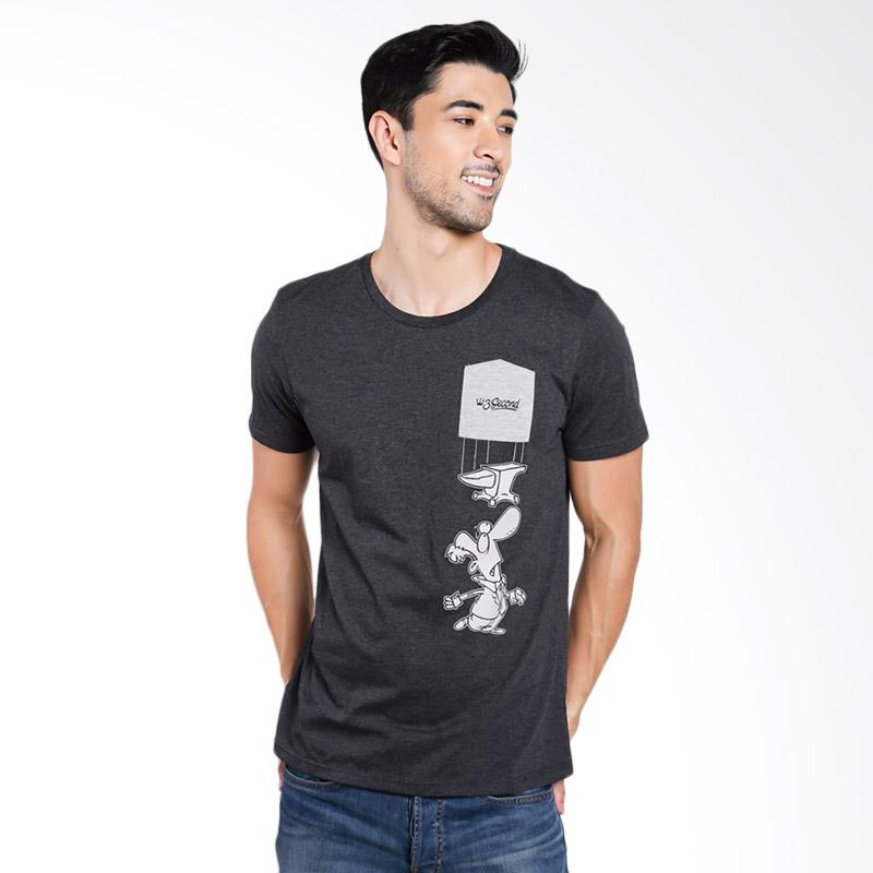 3SECOND Men 0312 T-Shirt Pria - Grey [T03121712]