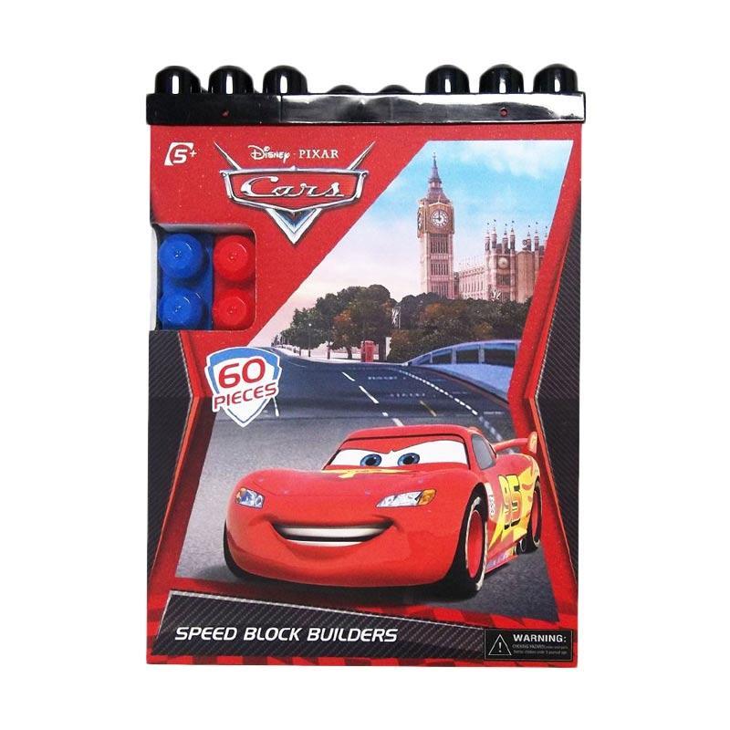 Happy Toon Cars Speed Block Builders Mainan Anak [60 pcs]