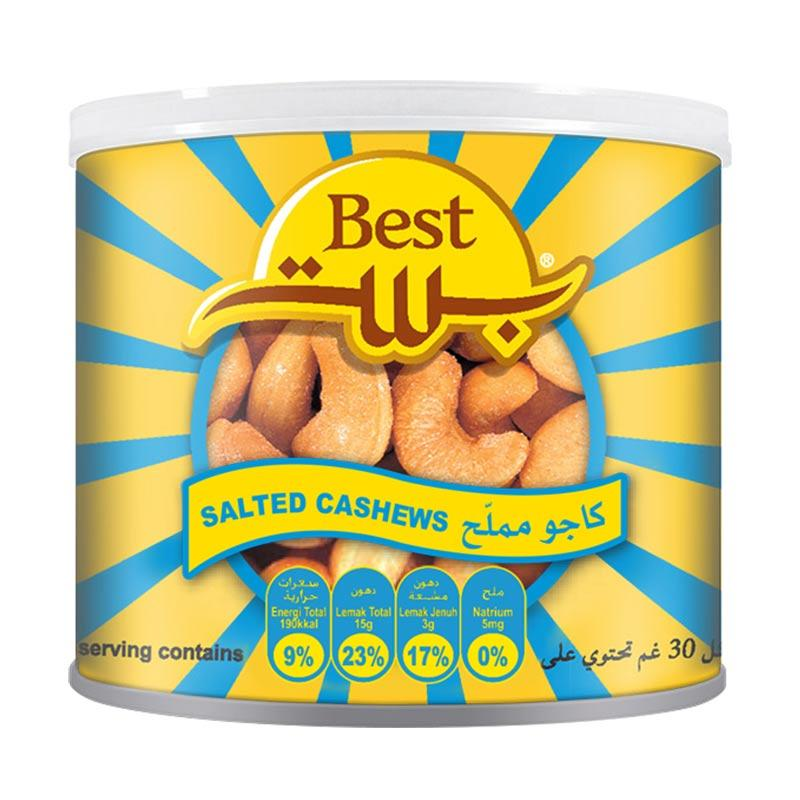 Best Peanuts Salted Cashew Nuts Kacang [110 g/Can]