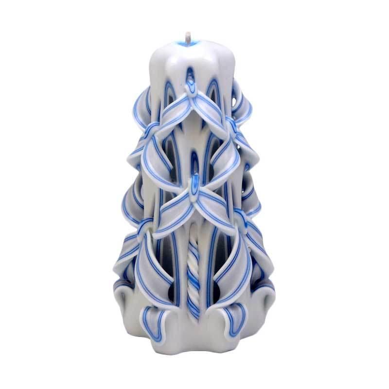 Indische Candle House Jupiter Lilin Ukir [6 Inch] Handmade dan Organik Wax