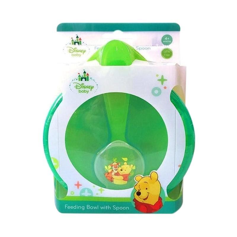 Disney Baby Feeding Bowl Set Perlengkapan Makan Anak with Spoon - Hijau