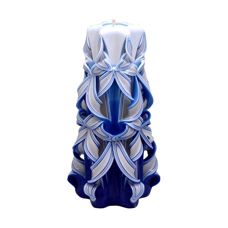 Lilin Ukir 10 Inch / Handmade dan Organik Wax / Aquamarine March