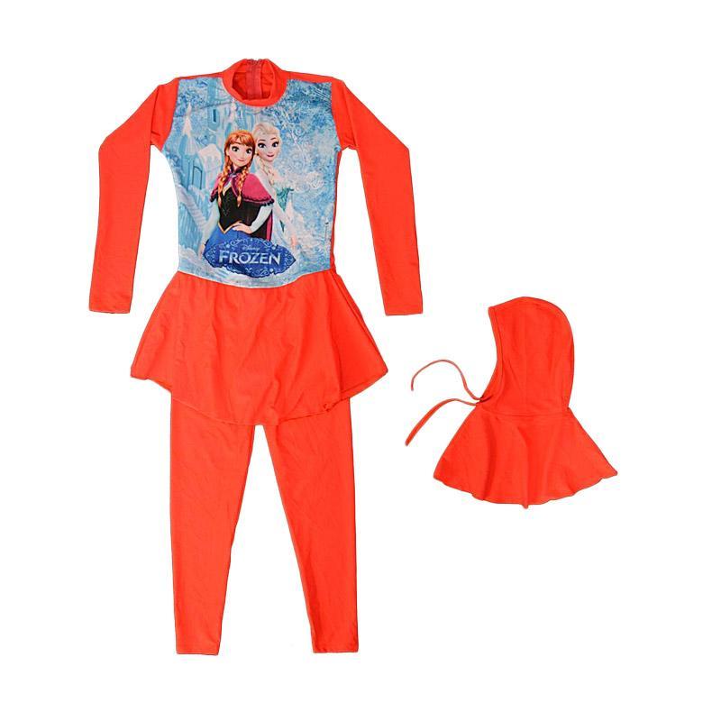 Nice Baby Motif Frozen Ice Baju Renang Anak Muslim - Orange
