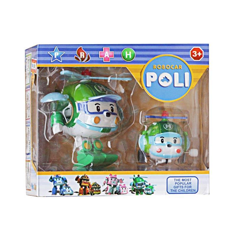 Istana kado IKO00870 Robopoli Robot Poli Set L Heli  Battle Action