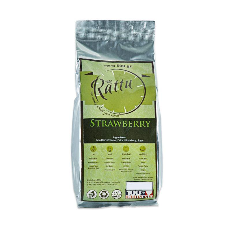 Rattu Beverage Strawberry Minuman Instan [500 g]