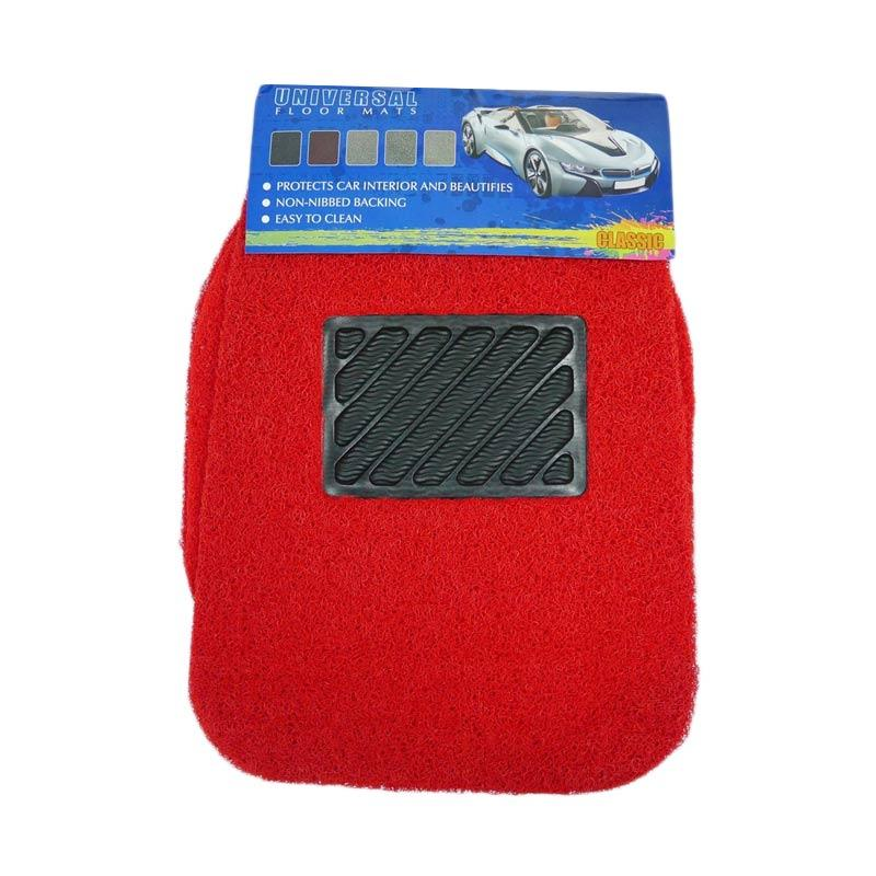 Classic C-05 Car Floor Mat Set Karpet Mobil Universal - Red [5 Pcs]