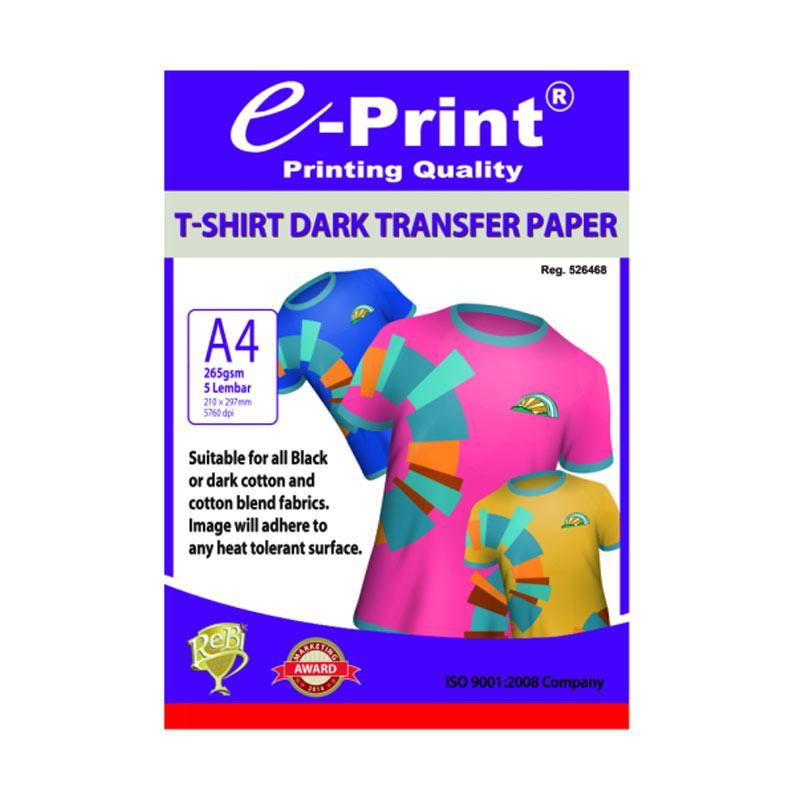 E-Print T-Shirt Transfer Dark Photo Paper [A4/ 5 Sheets]