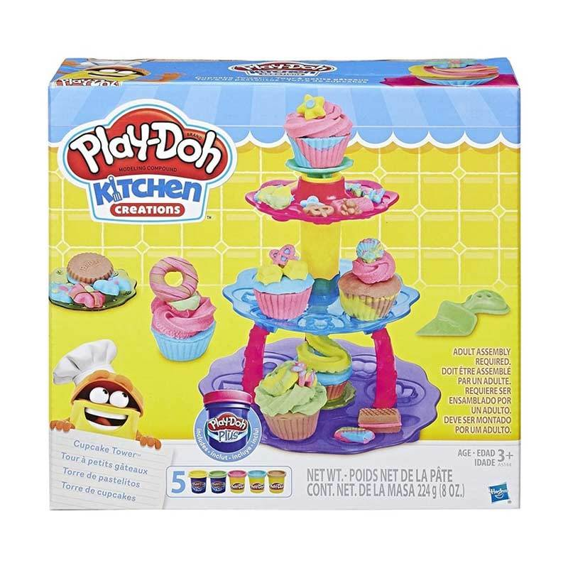 Playdoh Cupcake Tower Kitchen Creations Mainan Clay dan Dough