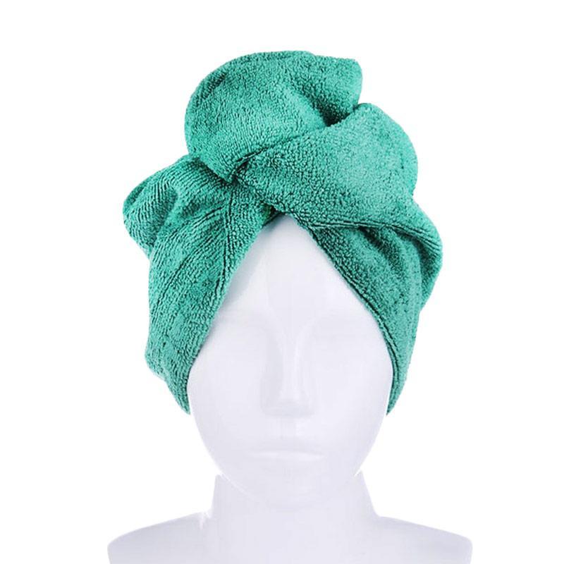 Mipacko Microfiber Turban Handuk Rambut - Green
