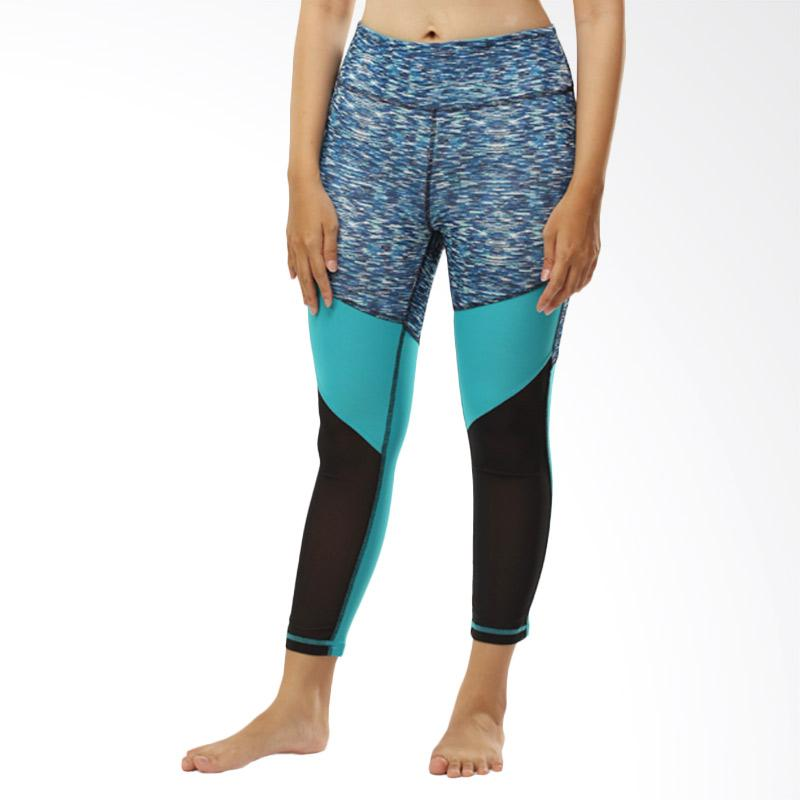 N.Y.L Mesh Misty Capri Celana Olahraga Wanita - Blue Tosca [08NYL100011]