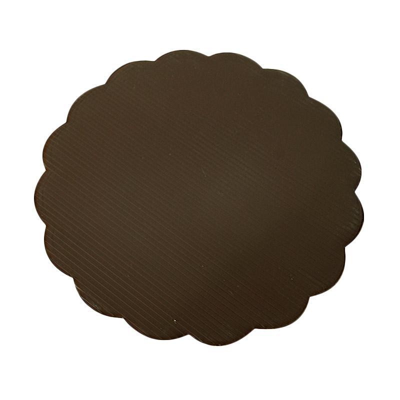 Titan Baking Bulat Tatakan Kue - Coklat [24 cm] isi 12 pcs