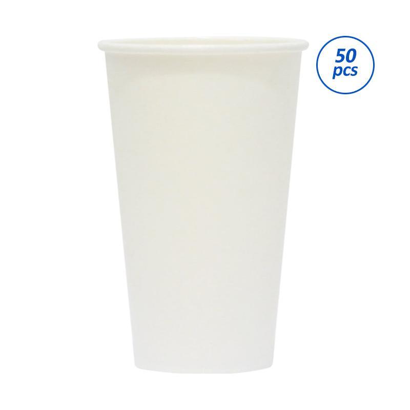 Avani White Paper Coffee Cup [16 oz/ 50 Pcs]