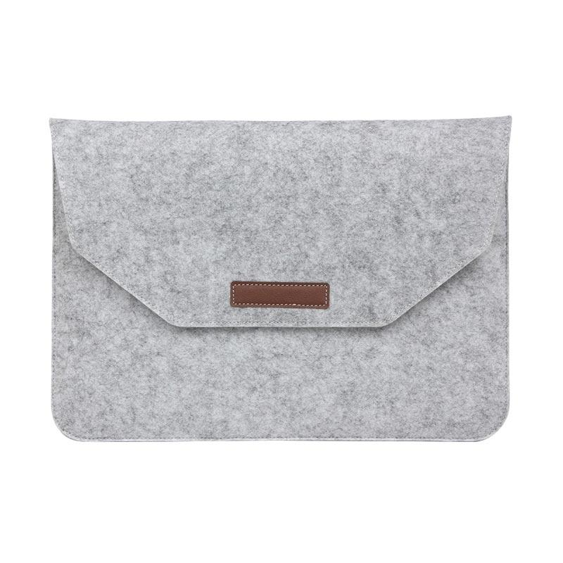 Cooltech Macbook Sleeve Simply Wool Felt Softcase Tas Laptop [11.6 Inch] + Free Pouch