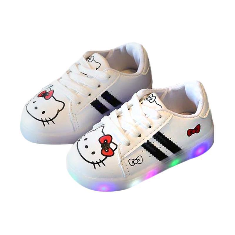 harga Fashion Walker LED Hello Kitty Sepatu Anak Perempuan - Hitam Putih Blibli.com