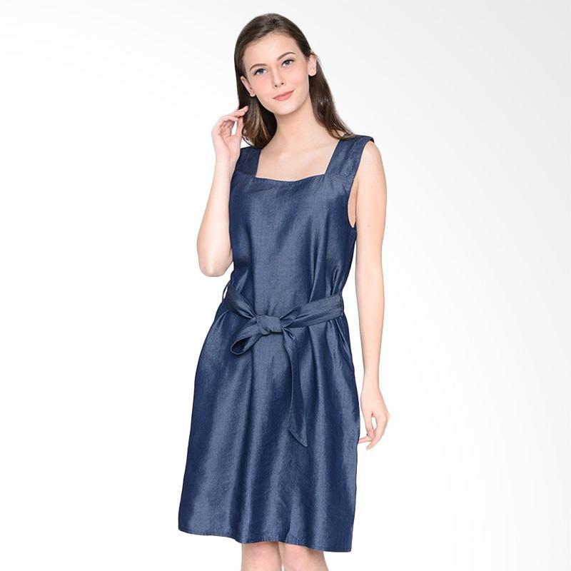 A&D Fashion Ms 965 Ladies Denim Dress Wanita - Blue