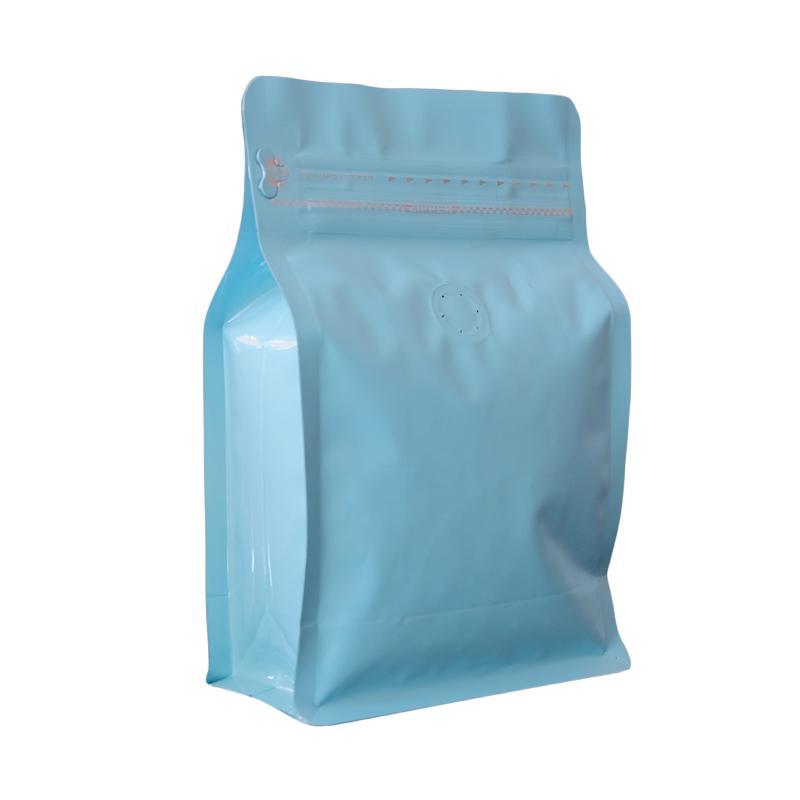 Worcas Coffee Bag Box Pouch With Zipper - Light Blue [250 g/ 10 pcs]