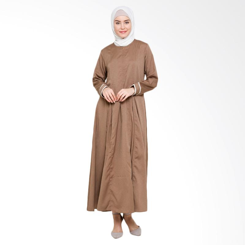 Allev Himaya Abaya Gamis Muslim - Coklat