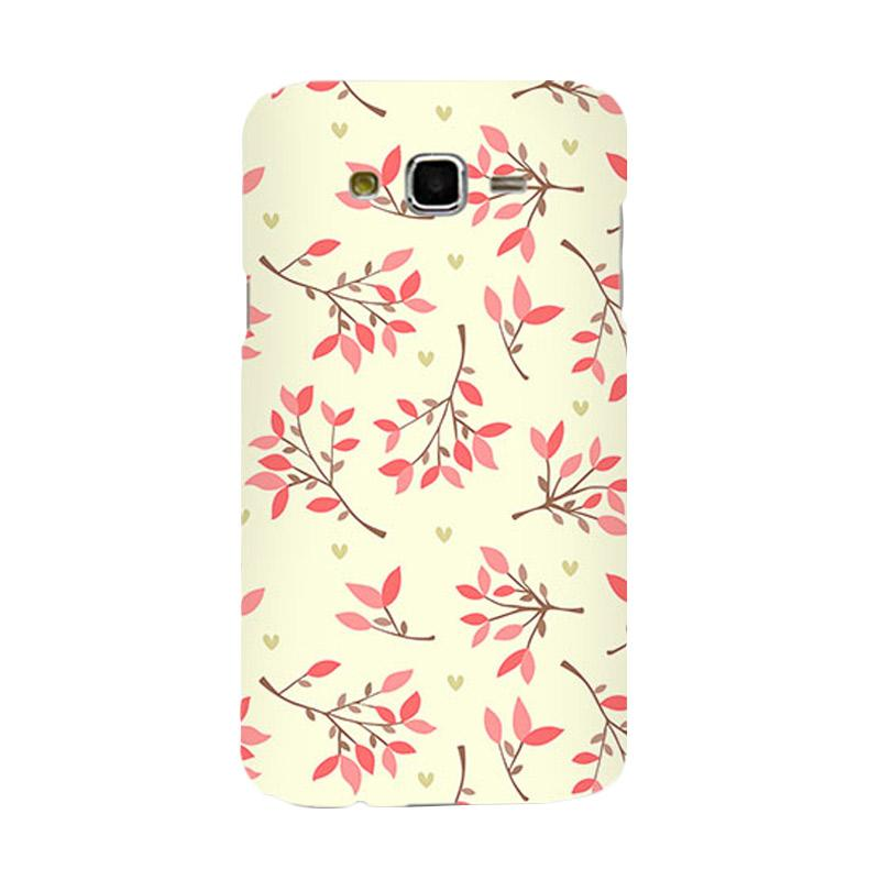 Premiumcaseid Cute Floral Seamless Shabby Hardcover Casing for Samsung Galaxy J7