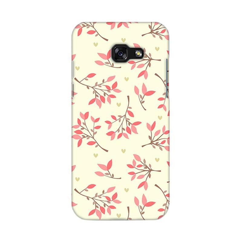 Premiumcaseid Cute Floral Seamless Shabby Hardcase Casing for Samsung Galaxy A3 2017