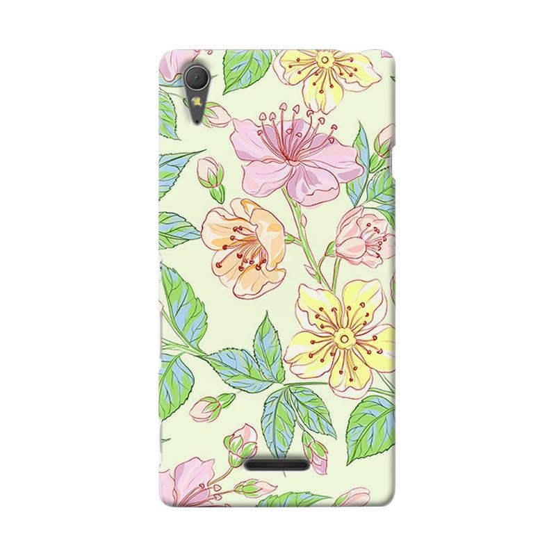 Premiumcaseid Beautiful Flower Wallpaper Hardcase Casing for Sony Xperia T3