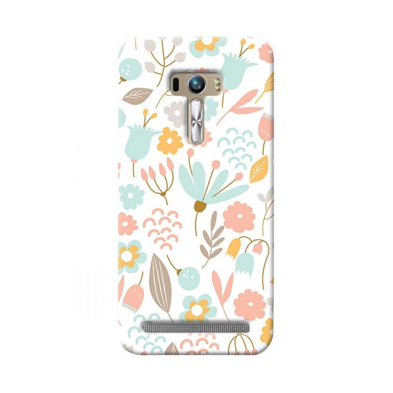 Premiumcaseid Cute Pastel Shabby Chic Floral Cover Hardcase Casing for Asus Zenfone Selfie