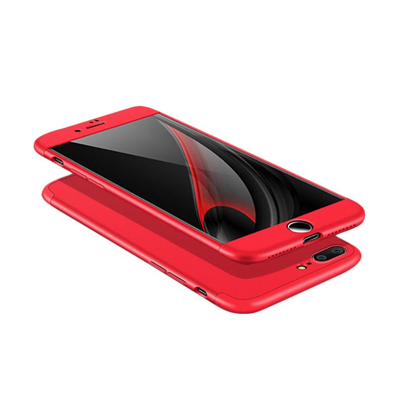 OEM 360 Full Protective 3in1 Hardcase Casing for iPhone 7 Plus - Red  + Free Screen Protector