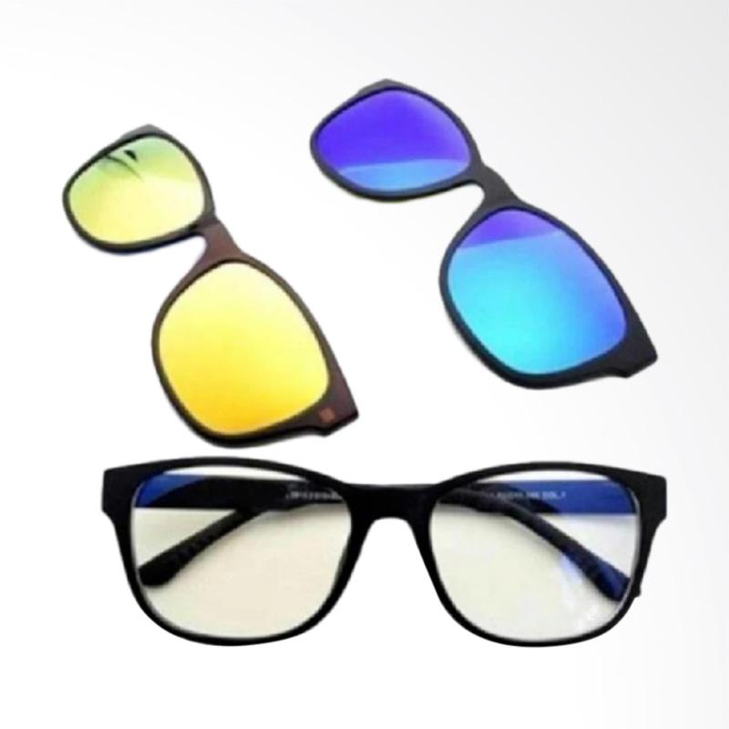harga Quickshop Quick Change Magnetic Fashion Sunglasses [3 Lense/ Anti Radiasi/ Polarize/ Amber] Blibli.com