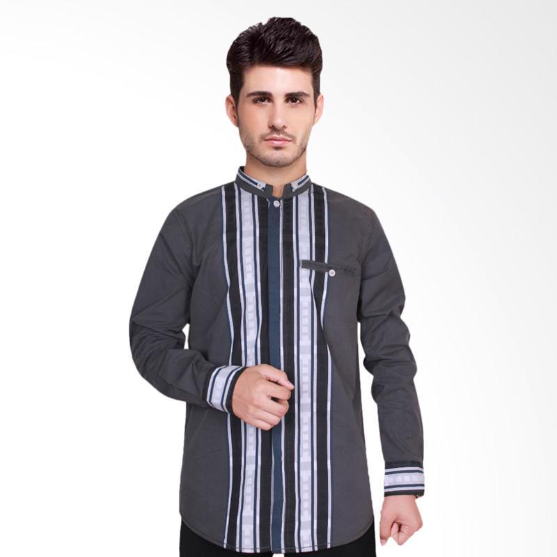 Fayruuz Baju Koko Lengan Panjang Pria - Abu L Grey M Grey