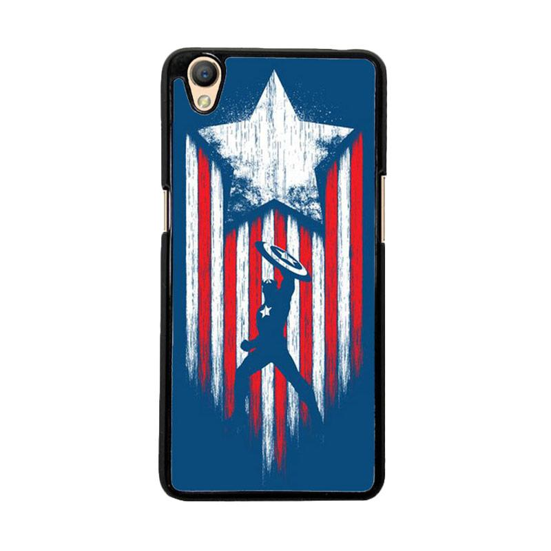 Flazzstore Captain America Blue O0171 Custom Casing for Oppo Neo 9 or Oppo A37
