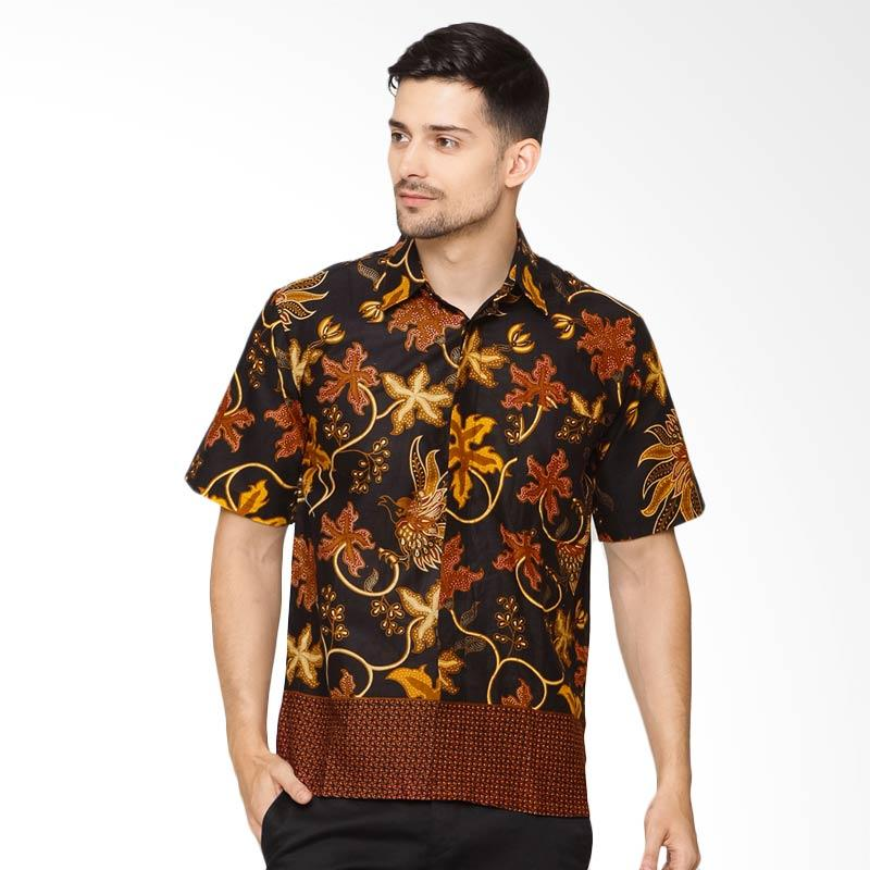 Jening Batik Short Sleeve Shirt - Black [HR-055]