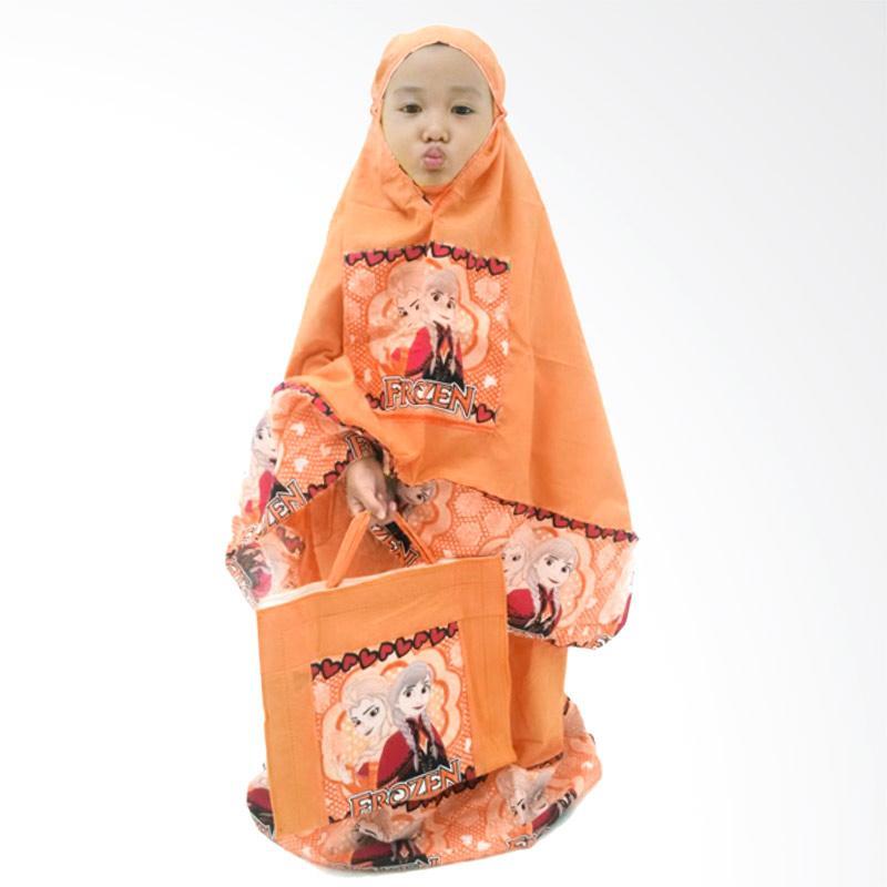 Rasya Karakter Frozen Mukena Anak - Orange [Usia 2-12 Tahun]