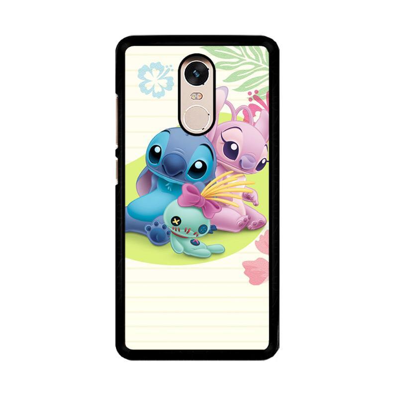 Flazzstore Stitch Disney O0413 Custom Casing for Xiaomi Redmi Note 4 or Note 4X Snapdragon Mediatek