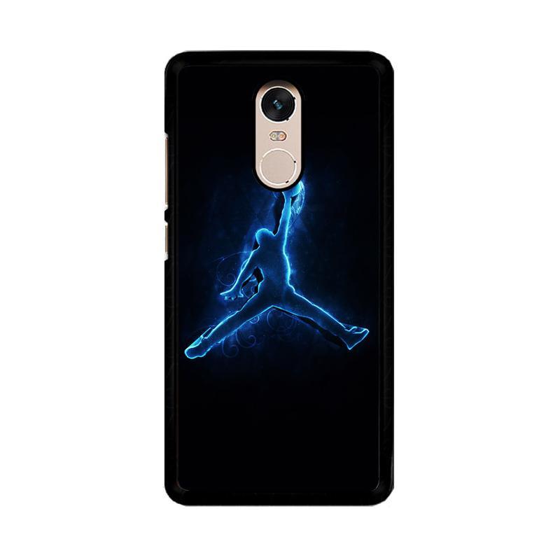 Flazzstore Air Jordan Glow Light Blue O0768 Custom Casing for Xiaomi Redmi Note 4 or Note 4X Snapdragon Mediatek