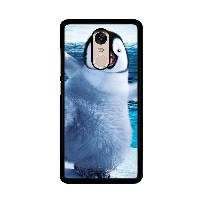 Flazzstore Happy Feet Penguin F0448 Custom Casing for Xiaomi Redmi Note 4 or Note 4X Snapdragon Mediatek