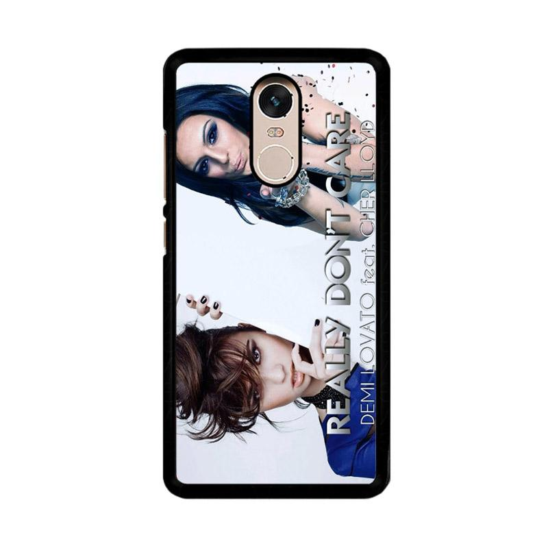 Flazzstore Demi Lovato Feat Cher Lloyd Really Dont Care Z0129 Custom Casing for Xiaomi Redmi Note 4 or Note 4X Snapdragon Mediatek