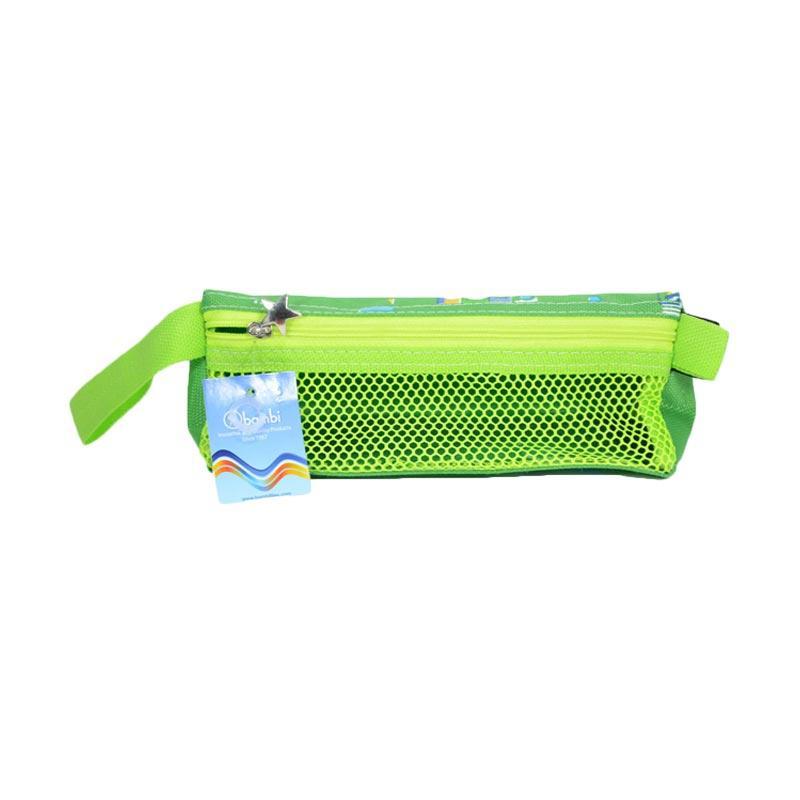 Bambi 5744 Pencil Case Raven - Medium green
