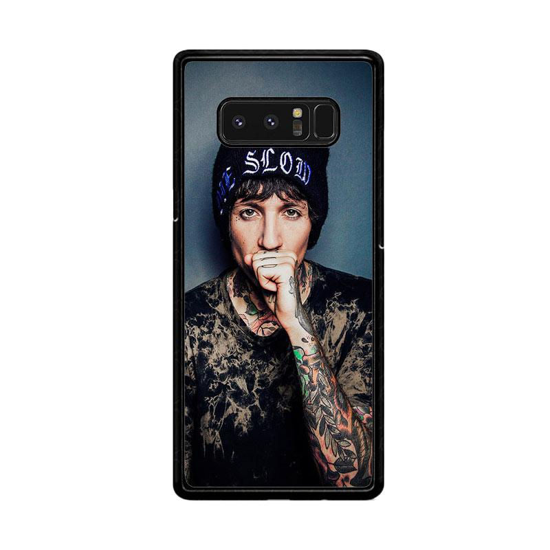 Flazzstore Oliver Sykes Bring Me The Horizon And Signature F0543 Custom Casing for Samsung Galaxy Note8